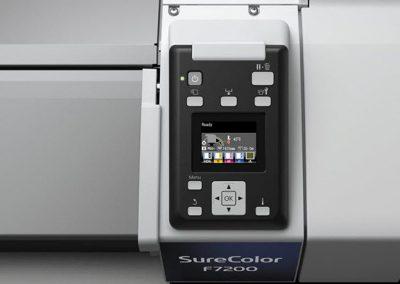 epson F7200 surecolor pantalla