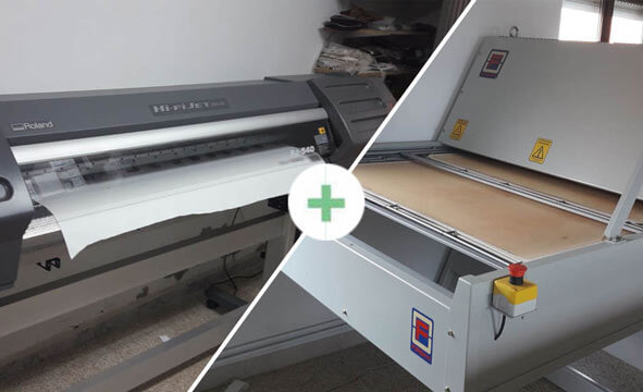 Prensa Firsan 115 x 70 + Plotter Roland para sublimación 4.250.€